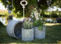 Decorative Stone Planters for the Garden or Patio