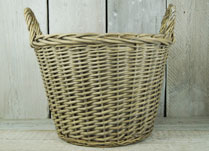 Willow basket with ears andl liner