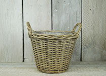 Willow storage or planting baskets with ears