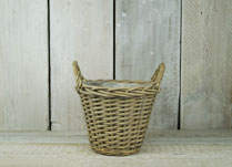 Practical range of willow baskets for storage or planting