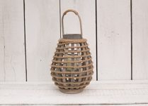 Gorgeous greywashed wooden lantern.