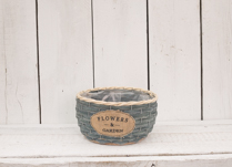 Lovely dark blue wood chip basket, perfect for planting up!