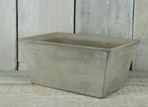Elegant tapered cement planting trough