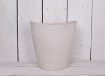 35x25cm Tall Oval Chalk White Pot Made From Recycled SPW