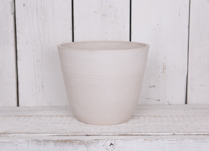 30cm Round Chalk White Pot Made From Recycled SPW
