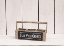 Lovely farm fresh organics wooden planter! Great for planting up!
