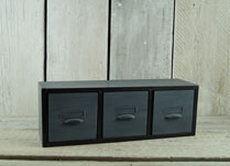 Set of Three Metal Drawers