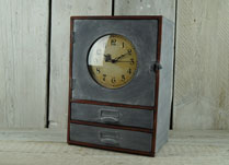 Metal Clock Cupboard with Drawers