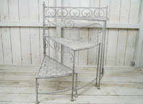 Antique Grey Folding Steps Display Stand