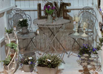 Antique Grey Table and Chair Bistro Set