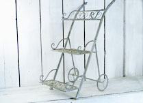Antique Grey Metal Display Stand