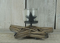 Christmas Star Willow Candle Holder