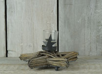 Star Willow Candle Holder