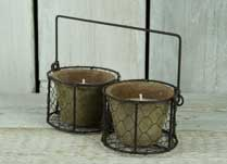 Rustic Outdoor and Indoor Candles