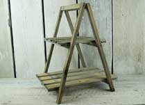 Greywashed Wooden Display Stand