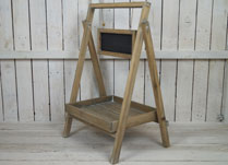 Greywashed Display Stand with Blackboard