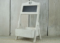 Small Whitewashed Plant Stand