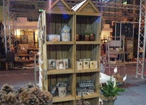 Rustic Wooden Display Hut