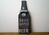 Wall-Mounted Bottle Opener