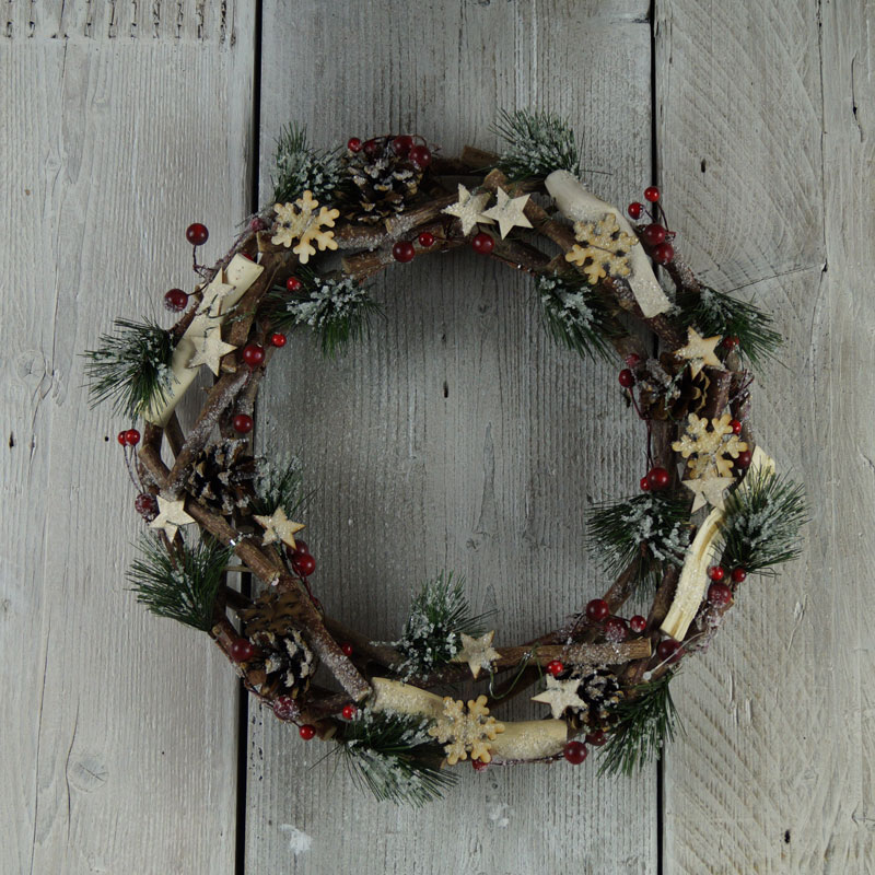Foliage Wreath Satchville Gift Co Christmas Decoration