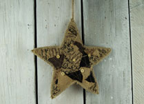 Patchwork Hessian Christmas Star