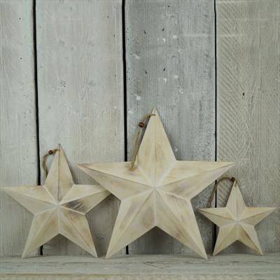 Wooden 3d Star Satchville Gift Co Christmas Decoration