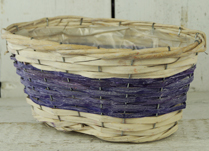 Two-Tone Purple  and Natural Basket with Liner