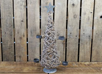 Rattan Christmas Tealight Tree