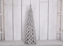 Small Greywashed and Silver Glitter Christmas Tree