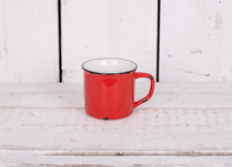 This lovely red porcelain cup could be used in your kitchen or even for planting up!