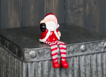 Shelf Sitting Santa 16 cm