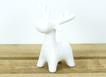 Small White Ceramic Reindeer