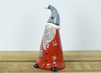 Christmas Ceramic Gnome Tealight Holder