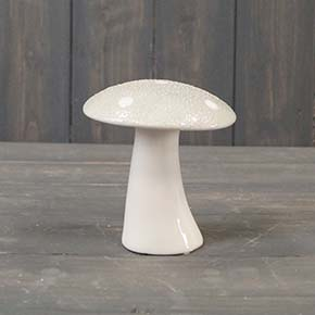 Medium Grey Ceramic Mushroom
