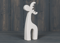 White Porcelain Deer Figure
