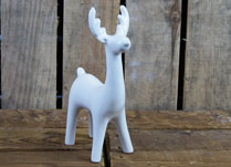 Small Long Necked Porcelain Reindeer