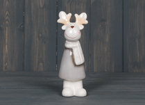 Ceramic Reindeer in Checked Scarf