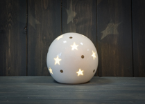 Ceramic Star Globe LED 12 cm Diameter
