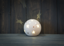 Ceramic Star Globe LED 9 cm Tall