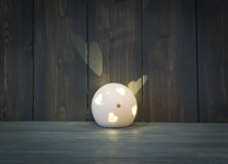 Ceramic Heart Globe LED 7 cm Tall
