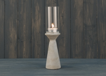 Elegant concrete candle stick
