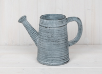 Dark Blue Stone Watering Can Planter