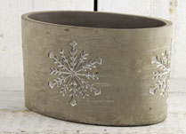 Christmas Ceramic and Concrete Planters detail page
