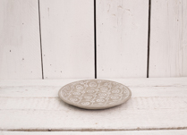 Gorgeous patterned cement plate. Perfect decor for your home, on it's own or as a set!