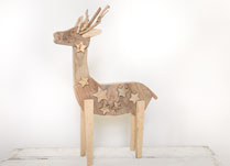 Large Wooden Christmas Reindeer