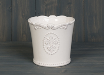 Lovely ceramic cream pot with Fleur De Lis Design