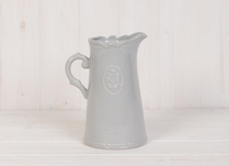 Lovely ceramic grey jug with Fleur De Lis Design