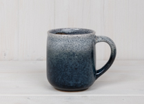 Blue Stoneware Mug with Graduated Glaze