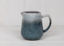 Blue Stoneware Jug with Graduated Glaze