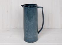 Blue Stoneware Jug with Blue Glaze